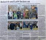 'Heinrich und Lotte locken an' Falknershow von 'FALCONRIDER' in Gommern